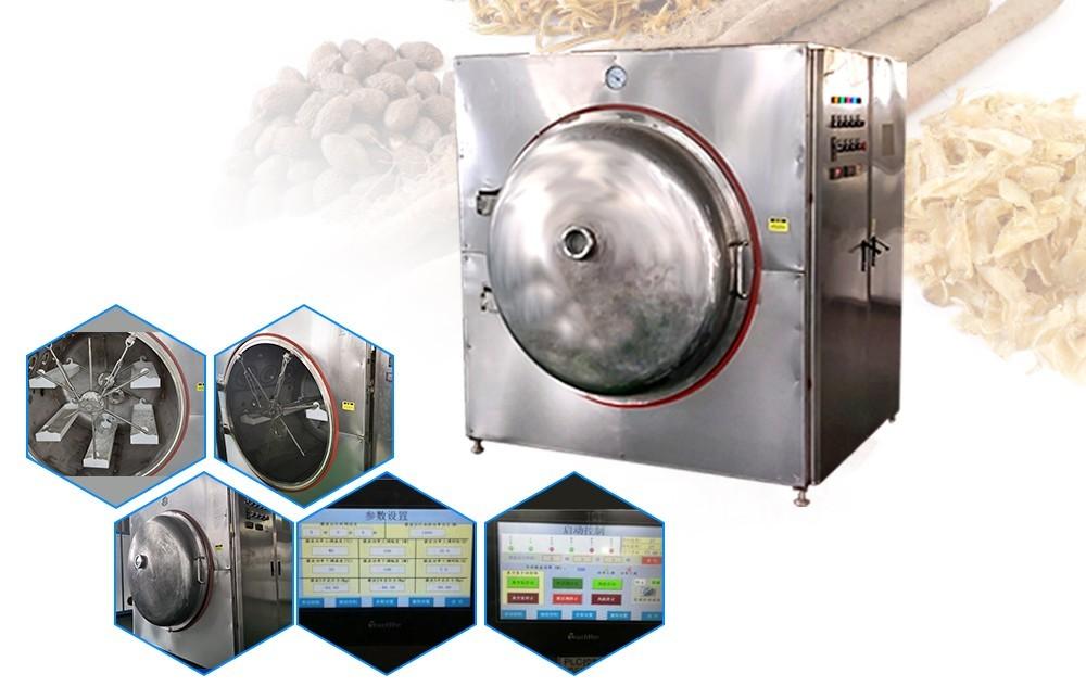Промышленный микроволновый вакуумный сушильный процесс